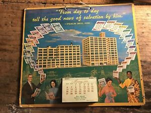 Watchtower 1957 Calendar Jehovah's Witnesses ORIGINAL AMAZING CALENDAR!! SEE!