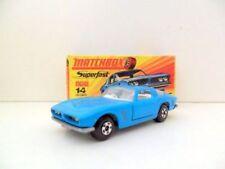 Modellini statici di auto, furgoni e camion blu Matchbox Superfast