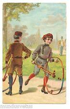 Enfants . Jouets anciens . Le cerceau . Children. old toys. The hoop.