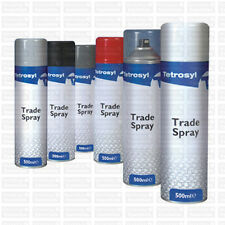 Tetrosyl Professional Trade Spray Paint Matt Black 500ml Refinish Look