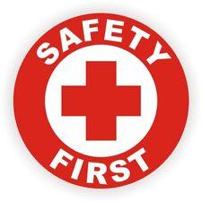 SAFETY FIRST Hard Hat Sticker / Helmet Decal Label Badge Welder Foreman Laborer