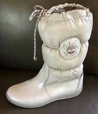 TIMBERLAND 'Sugarberry' Tall Boots Pearlized Gray Patent Leather Fiberfill Nylon