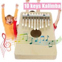 Kalimba 10 Schlüssel Daumen Klavier Mit Melodie Hammer Tragbar Holz Finger