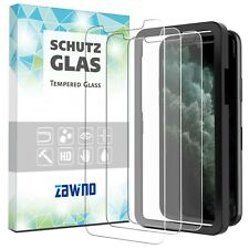 3x Panzerfolie iPhone 11 | Pro | Max MIT INSTALLATIONSRAHMEN Panzer Schutz Glas