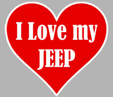 I LOVE MY JEEP 100x100mm AUTOCOLLANT/STICKER-AUTO (IA051)