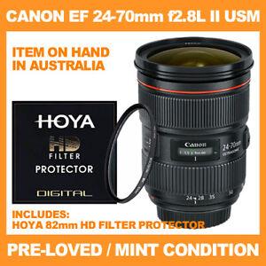 CANON EF 24-70mm f2.8L II USM ULTRASONIC LENS + HOYA 82mm HD FILTER PROTECTOR
