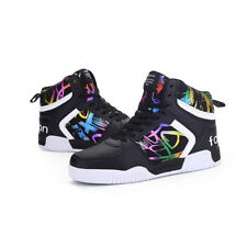 Patchwork Printing High Top Couple Shoes - Black (YPJ1218101)