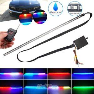 7-Color RGB 48LED Light Night Rider Strip Scanner Flash Lamp Bar Wireless Remote