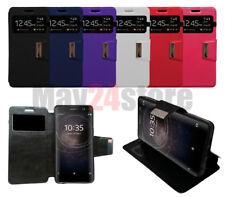 Funda soporte libro ventana Sony Xperia XA2 + protector cristal opcional