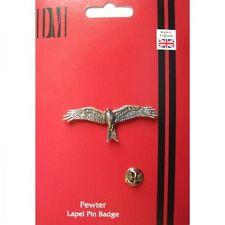 B45 Red Kite bird English Pewter Lapel Pin Badge XTSPBB45