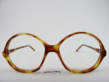 Vintagebrille Damenbrillen 70s Hornoptik braun sehr große Gläser Gr. L 58[]18