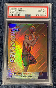1999 Topps Finest Shawn Marion Refractor #121 Rookie RC PSA 10 GEM MT
