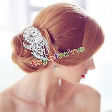 Wedding Bridal Crystal Rhinestone Hair Comb Pin Headdress Head Piece Tiara '