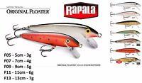 Rapala Original Floater® 5cm 7cm 9cm 11cm 13cm  3g 4g 5g 6g 7g Various Colours