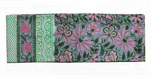 Indian Hand Block Print Tablecloth 100%Cotton Floral Rectangular 60*90 Inches