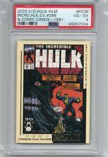 2003 Upper Deck Hulk Film Classic Hulk Covers Cards # 386  #FC36  PSA4