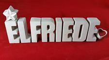 Beton, Steinguss Buchstaben 3D Deko Namen ELFRIEDE als Geschenk verpackt!