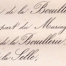 Françoise Roullet De La Bouillerie & Paul De La Selle 1876