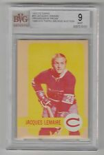 1972/73 TOPPS JACQUES LEMAIRE 3 COLOR PROGRESSIVE PROOF CARD #25 BVG 9 MINT COND