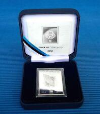 Estonia 2018 SILVER STAMP 10 Euro 100 Years Estonian Republic Certificate #2076