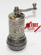 Turkish Pepper Salt Grinder Coffee Spice Grinder Mill 4.3 inch + FREE GIFT  (6)