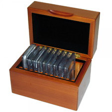 Coin Slab Box in Wood for 10 Certified Coins