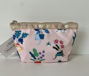 NWT LeSportsac Classic Small Sloan Cosmetic Pouch Make Up in Comfy Cats Mini
