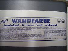 Wandfarbe für innen seidenmatt Deckklasse 1 weiß 5 Liter 3,39€/Liter hochdeckend