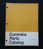 1960's GENUINE CUMMINS N-927 SERIES DIESEL ENGINE PARTS MANUAL CATALOG VERY GOOD