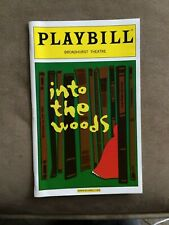 INTO THE WOODS COLOR COVER PLAYBILL BROADHURST THEATRE