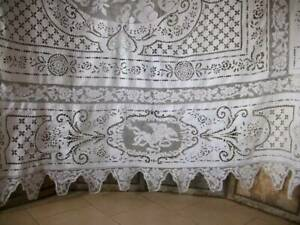 Gorgeous Antique French Lace Bedcover  c1900