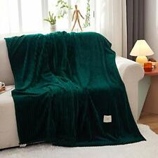 """Chifave Green Blanket Twin Blanket 60""""x 80"""" Throw Luxurious Soft Fluffy Comfo."""