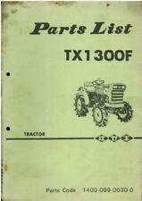 Iseki Tractor TX1300F Parts Manual