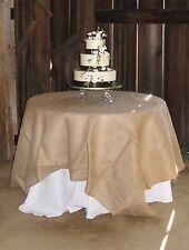 """10 Lot 54""""×54"""" Burlap Tablecloths Overlays Seamless Wedding 100% Natural Jute"""