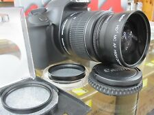 Wide Angle Macro Lens For Canon Eos Digital Rebel t5 xt t6i t3 t4i w/18-55 n un