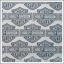 BonEful Fabric VTG Harley Davidson Biker Motorcycle Decor Retro Logo Quilt Block