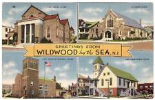 WILDWOOD NEW JERSEY 4 VINTAGE 1930S CHURCH VIEWS