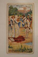 Vintage - 1912 - Wills - Historic Events Card - Queen Elizabeth & Walter Raleigh