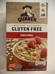 Quaker Gluten Free Original Instant 100% Whole Grain Oats Oatmeal 10 Packs/Box