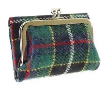 Ladies Rhum 100% Harris Tweed Clasp Purse With Card Section Wallet