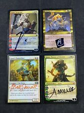 Magic The Gathering MTG Signed Cat Lot of 4 Cards Commander NM LOOK CATS