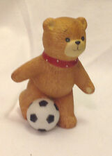 Enesco Lucy & Me Lucy Riggs Soccer Bear Figurine Sports Porcelain Vintage 1982