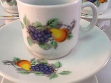 2 Oz Cuban Espresso coffee cup set 12 pc 6 cup 6 saucer Tacita Cafesito Fruits