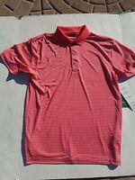NEW Men's Ben Hogan Performance Golf Polo UPF Shirt Size Medium Pink NWT