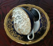 Aynsley Bone China Cup And Saucer Gilded / Cobalt blue