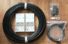 25m EXTERNAL Cat6 UTP Cat 6 CABLE HOME INSTALLATION NETWORK KIT RJ45 MODULE