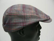 MEGA CAP - PLAID - POLYESTER/RAYON - MEDIUM SIZE CABBIE NEWSBOY STYLE CAP HAT!