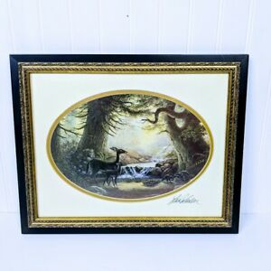 """Lee Roberson Framed Art Signed and Double Matted """"Flora and Fauna"""""""