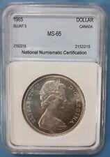 1965 Canada Silver Dollar  NNC MS-65