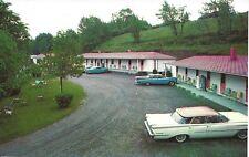 """postcard1959 Oldsmobile 98 """"flat top"""" 4-Door Hardtop Hillside Motel Watertown NY"""